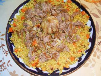 Рецепт туркменского плова, Плов, Аш, кухня туркменистана, кухня туркмении