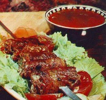 Национальная кухня Туркменистана, туркменский шашлык, баранина с помидорами, шашлык из баранины с помидорами