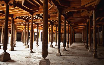 Джума-Мечеть, 213 деревянных колонн, Абдурахман Мехтар, достопримечательности Хивы
